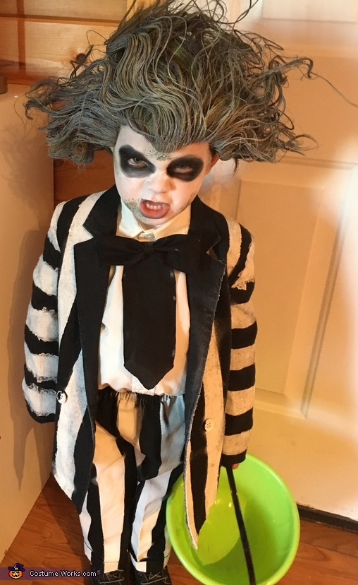 Notice the moss on his face and his belly!, Beetlejuice Boy's Costume