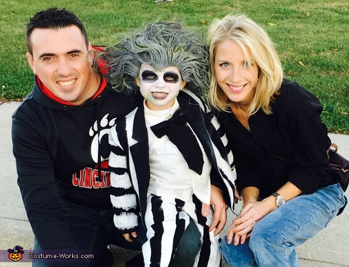Beetlejuice with mom and dad!, Beetlejuice Boy's Costume