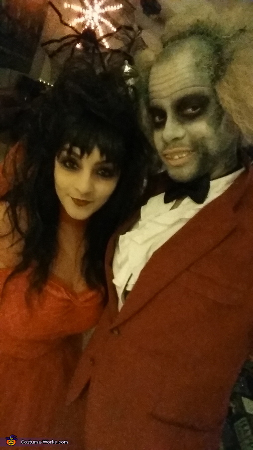 Beetlejuice Couple Homemade Costume