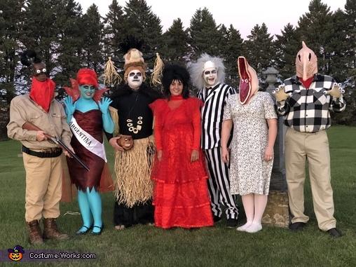 Beetlejuice Family Homemade Costume