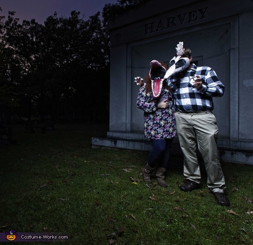My husband and I as Barbara and Adam Maitland (Photo by Tidy Photography), Beetlejuice Family Costume