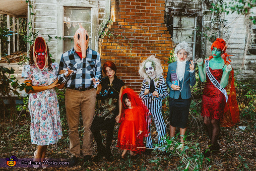 Beetlejuice Group Family Costume