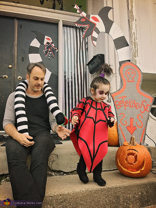 Lydia and her daddy, Lydia from the cartoon Beetlejuice Costume
