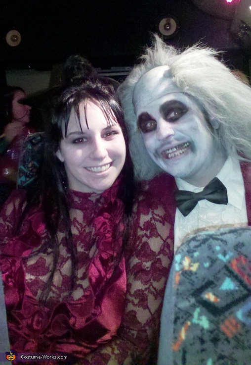 Beetlejuice and Lydia Couple Costume DIY