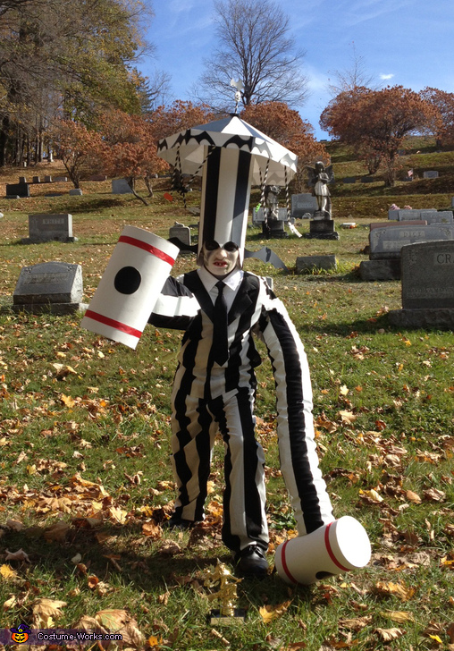 Beetlejuice with Carousel Hat and Hammer Arms Costume
