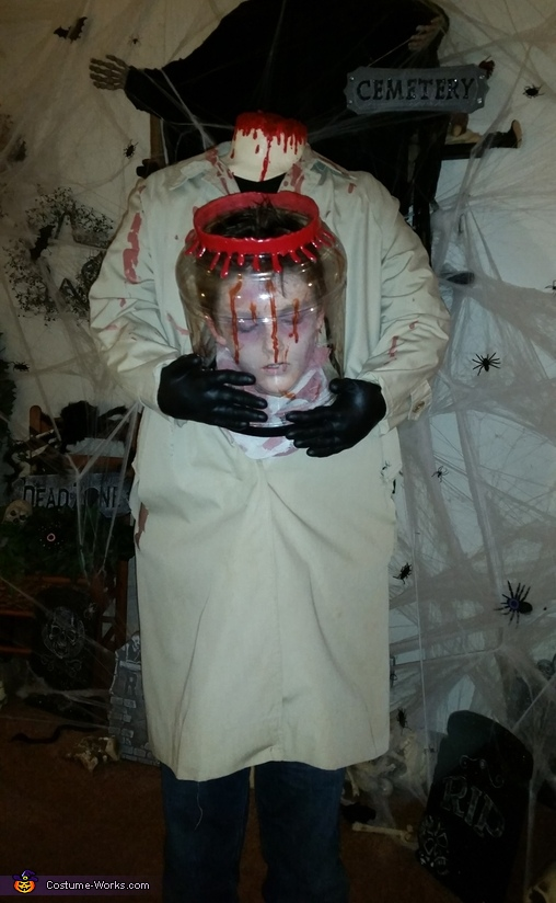 Beheaded Boy Jar Head Costume