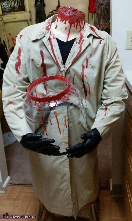 Final product, Beheaded Boy Jar Head Costume