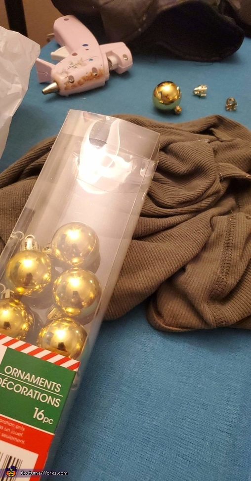 99 cent store ornaments, Beldar Conehead Costume