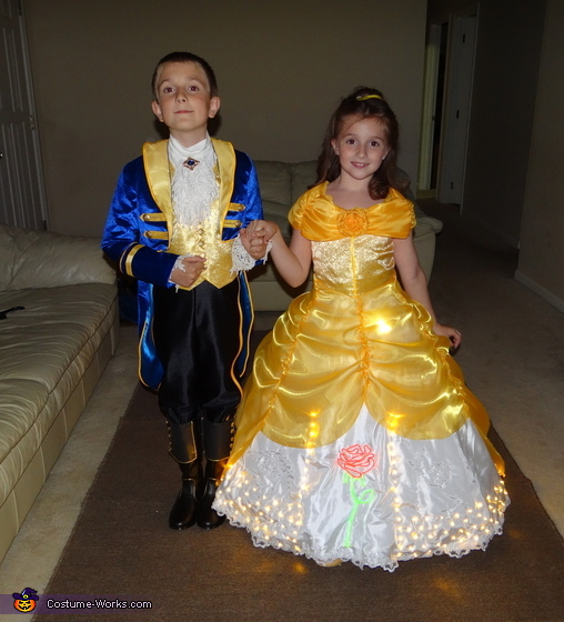 Electrical Light Parade inspired Belle and Prince Adam Costume