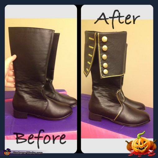 Prince Adams Boots that I altered, Belle and Prince Adam Costume