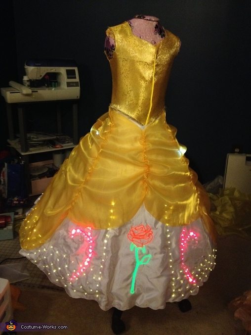 Belle dress Progress Picture, Belle and Prince Adam Costume