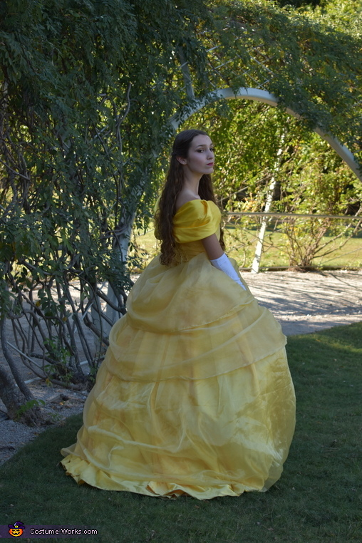 Walking on the castle grounds., Belle of the Ball Costume