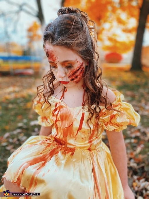 Belle Slashed by The Beast Homemade Costume