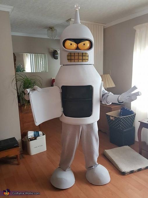 Dancing Bender Mascot Suit Homemade Costume