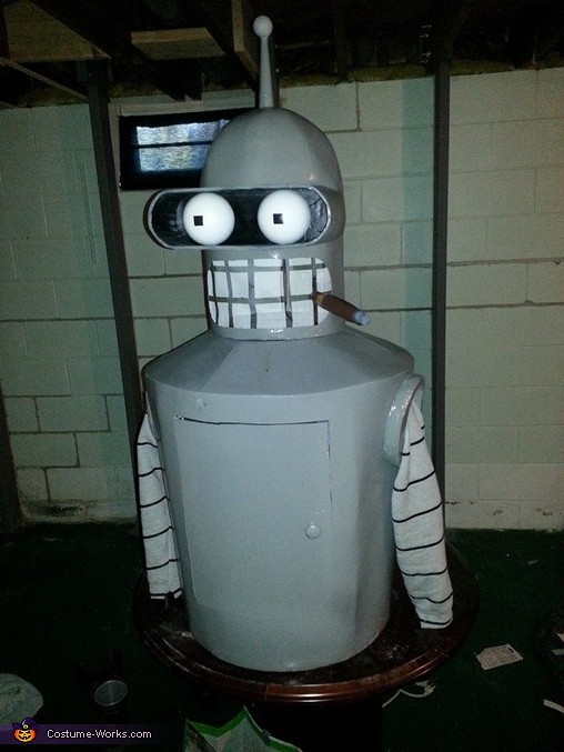 completed body with Arms, Futurama Bender Costume