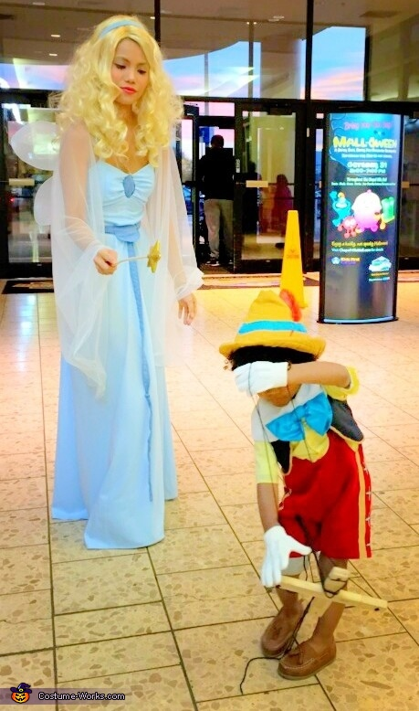Benevolent Blue Fairy transforming Pinocchio from a marionette puppet into a 'real boy'., Benevolent Blue Fairy Costume