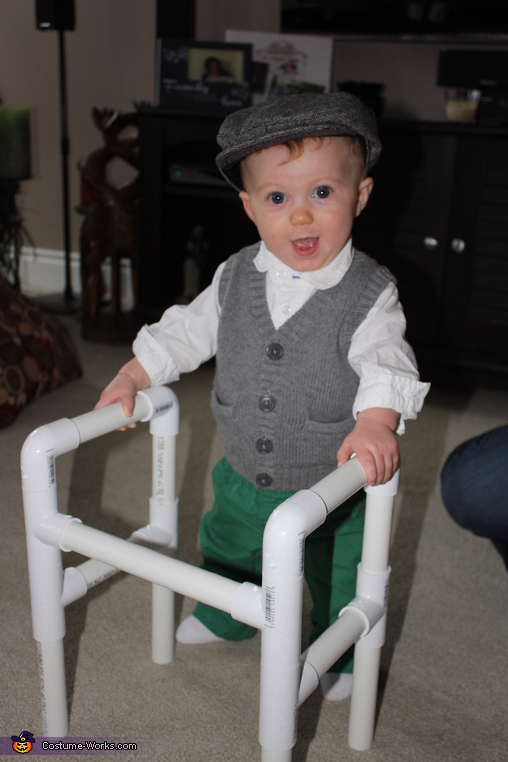 Loving his new walker!, Benjamin Button Baby Costume