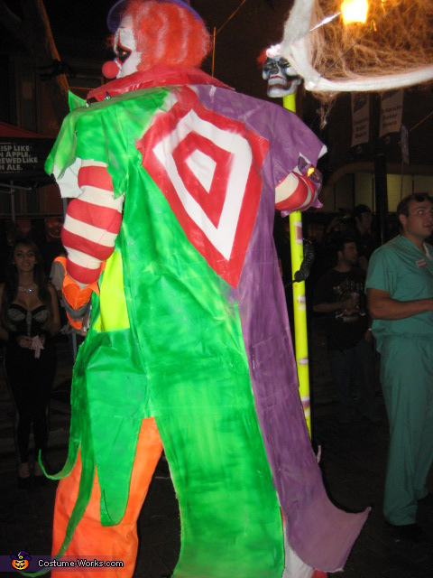 back view, Big Berzerk and Lil' Bitty Clown Costume
