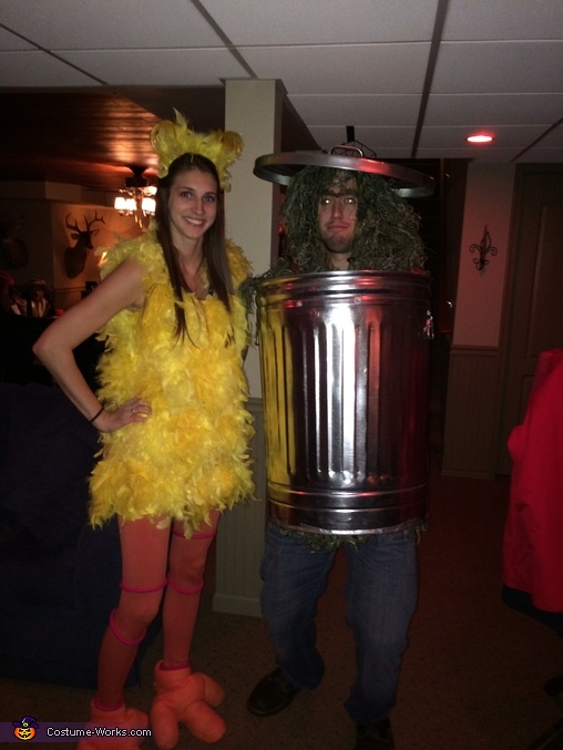 Big Bird and Oscar the Grouch Costume