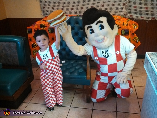 Big boy side by side, Big Boy from Big Boy Restaurants Costume