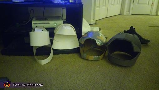 my helmet designs  cardstock, cardboard and EVA foam, Hiro Hamada from Big Hero 6 Costume