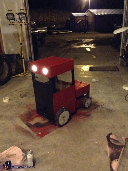 Big Red Tractor Homemade Costume