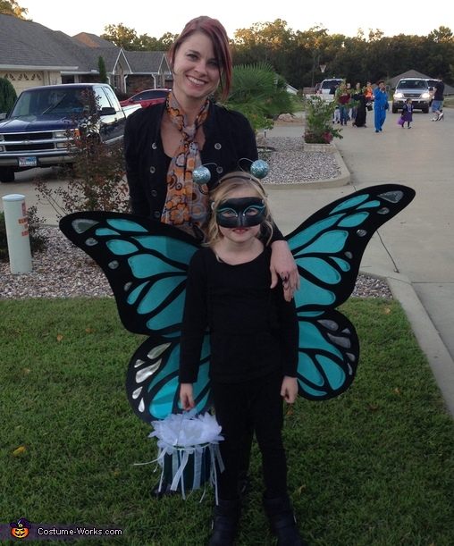 Mom (costume maker) and Daughter (butterfly), Big Winged Butterfly Costume