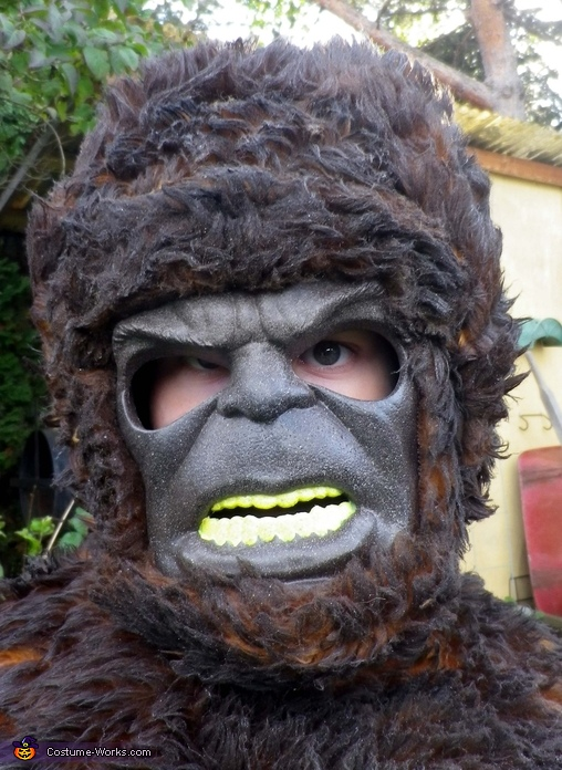 Owen's bigfoot mask, Bigfoot Costume