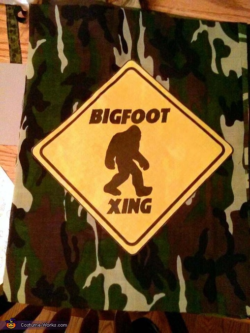 Owen's bigfoot crossing candy bag, Bigfoot Costume