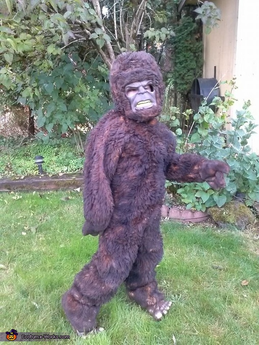 Owen as bigfoot., Bigfoot Costume