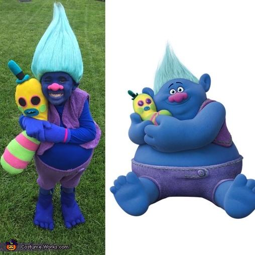 Twins, Biggie from Trolls Costume