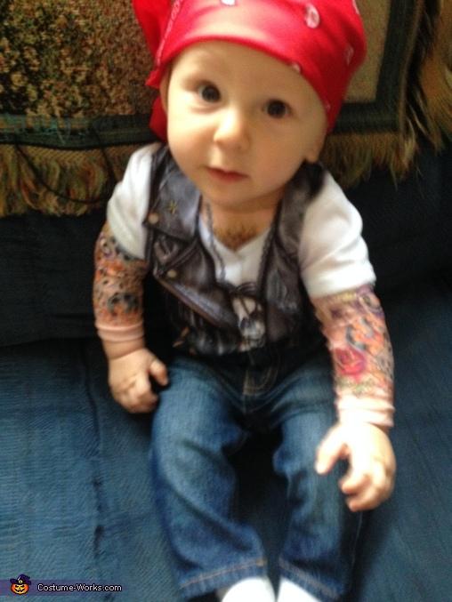 Cute Biker Baby Costume