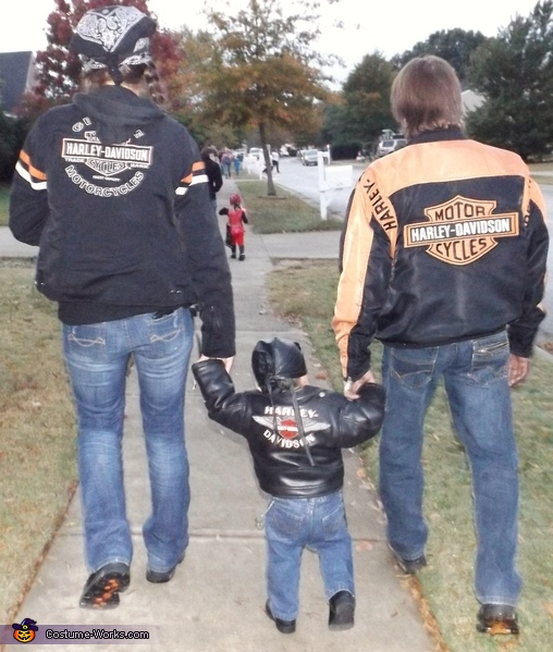 Biker Baby and Family Costume