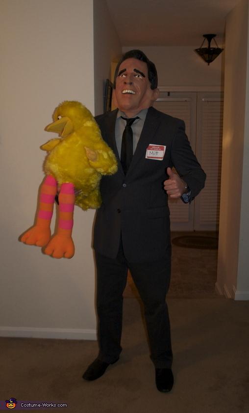 Mitt with Big Bird , Binder Full of Women, Mitt & Big Bird Costume