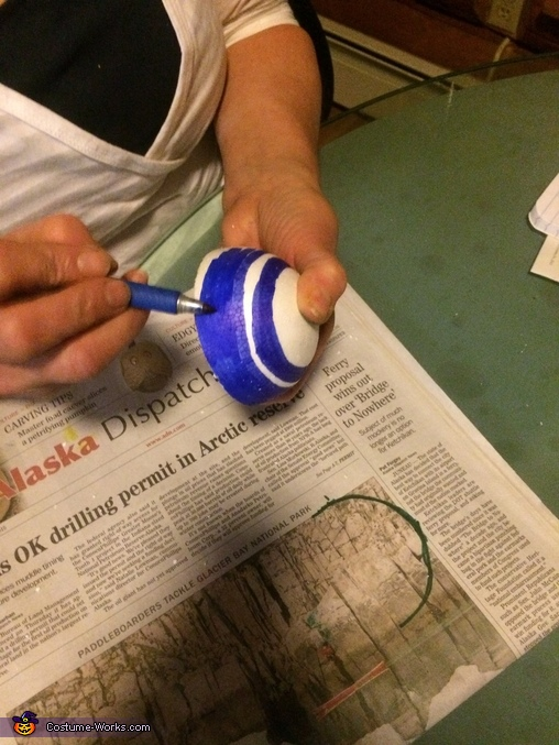 Painting the bingo balls, Bingo Dauber Costume