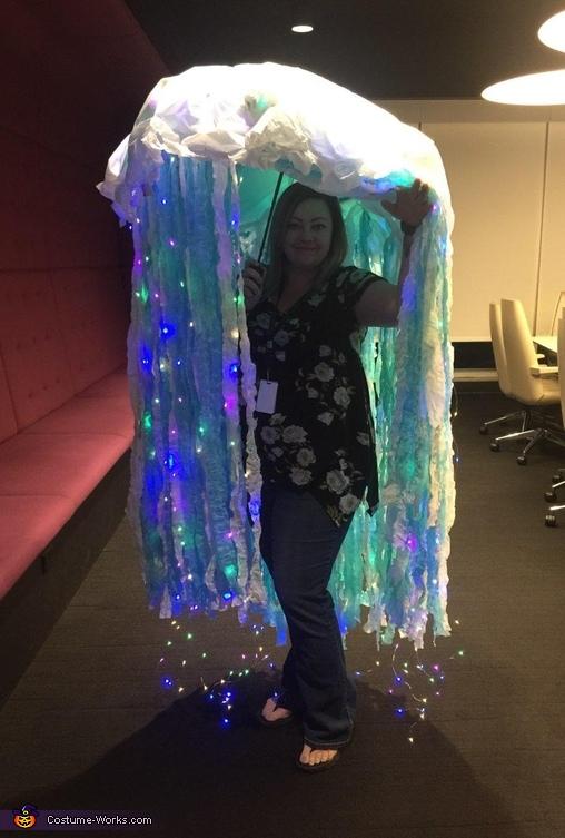 Bioluminescent Jellyfish Homemade Costume
