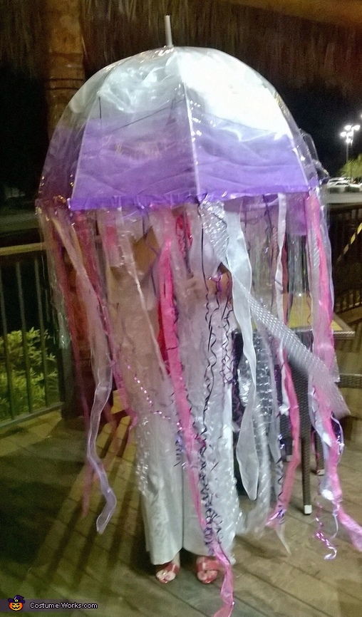 DIY Bioluminescent Jellyfish Costume