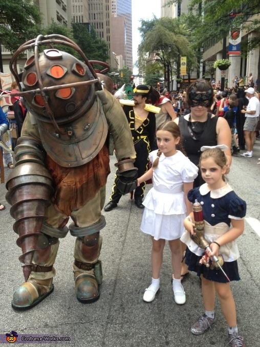 All together, Bioshock Big Daddy and Little Sisters Costume