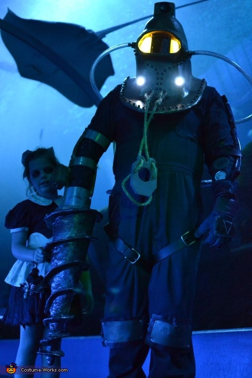 In Rapture, Bioshock Big Daddy and Little Sisters Costume