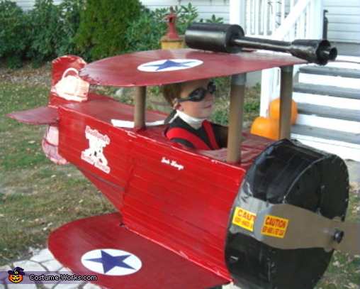 Bi-Plane Pilot - Homemade costumes for boys