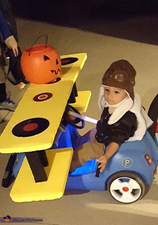 Biplane Pilot Homemade Costume