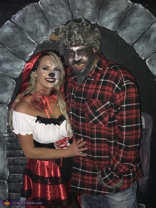 Bitten Little Red Riding Hood & Big Bad Wolf Costume