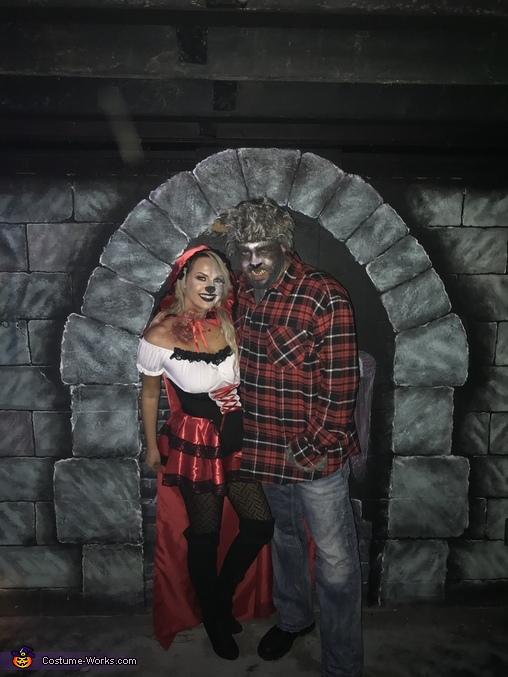 Bitten Little Red Riding Hood & Big Bad Wolf Homemade Costume