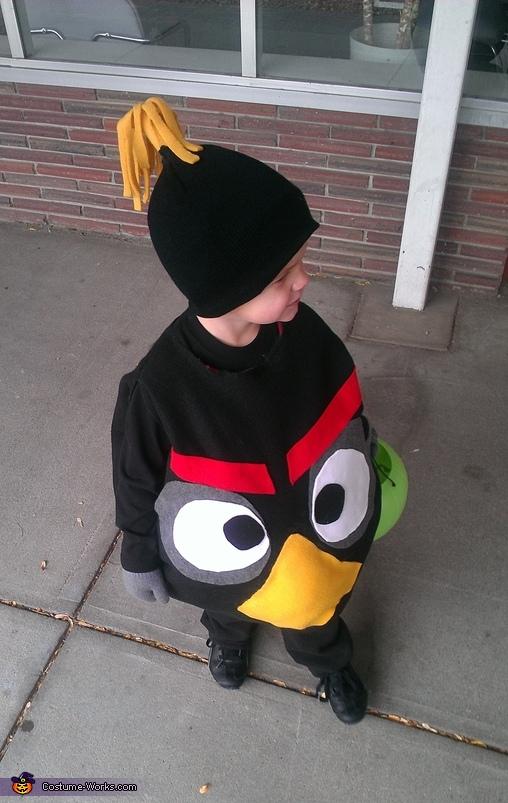 Black Angry Bird Homemade Costume