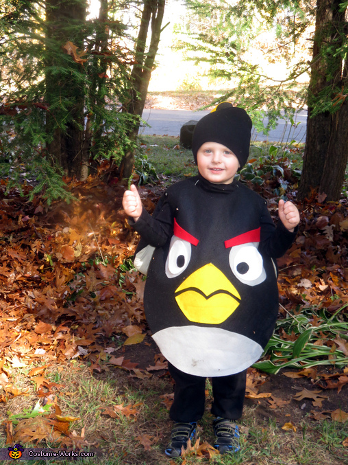 Black Angry Bird Bomb Homemade Costume