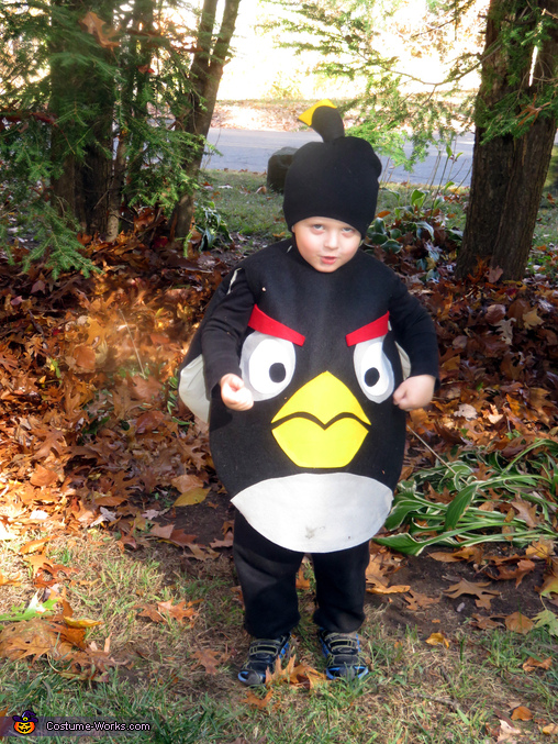 Black Angry Bird Bomb Homemade Costume