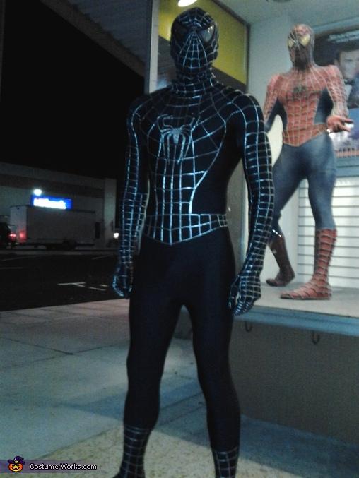 Homemade Black Spiderman Costume