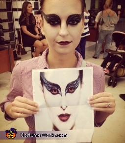 My makeup, Black Swan Costume