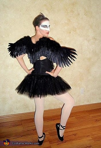 Black Swan Costume w/ wings, Black Swan Costume