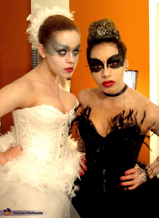Black and White Swan 2. Black Swan & White Swan - Homemade costumes for women